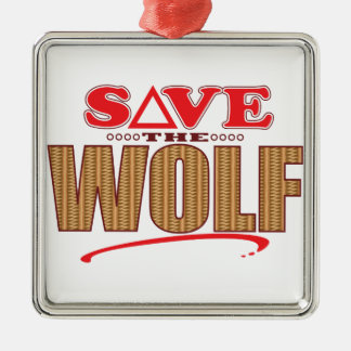 Wolf Save Metal Ornament