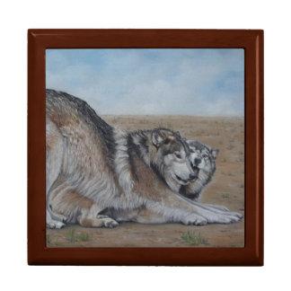 wolf scenic wildlife realist art gift box