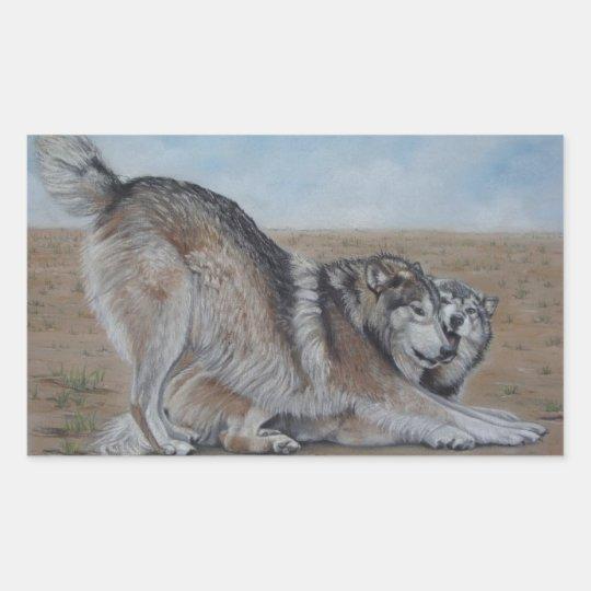 wolf scenic wildlife realist art stickers