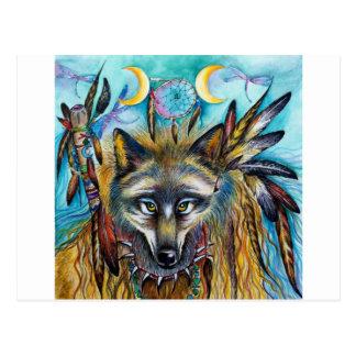 Wolf Shaman Spirit Postcard