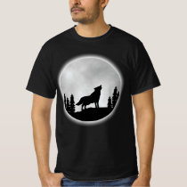 Wolf Shirt - Howling Spirit Wolf In The Night