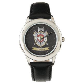 Wolf Sigil Battle Crest Surname Wristwatch