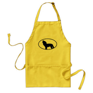 Wolf Silhouette Adult Apron