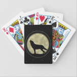 """Wolf Silhouette, Bicycle Poker Playing Cards<br><div class=""""desc"""">With holiday entertaining just around the corner, why not treat yourself to some new decks of playing cards. Gueswho designers hope one of the styles they have created will delight you and your guests, whether it&#39;s your Friday night Poker group, or a family game of Dirty Eights. Colors galore, styles...</div>"""