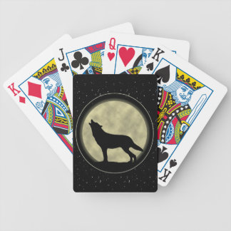 Wolf Silhouette, Bicycle Poker Playing Cards
