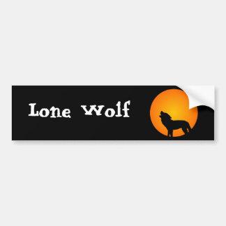 Wolf Silhouette Bumper Sticker