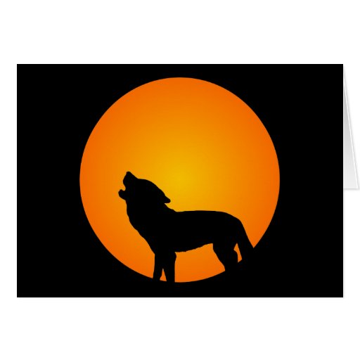 Wolf Silhouette Card