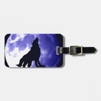 Wolf Silhouette & Full Moon Bag Tag