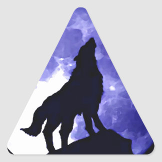 Wolf Silhouette & Full Moon Stickers