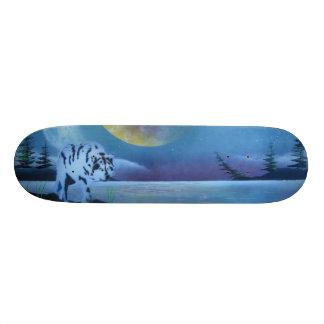 Wolf Skateboard. Skateboard Deck