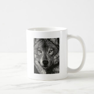 Wolf Sketch Classic White Coffee Mug