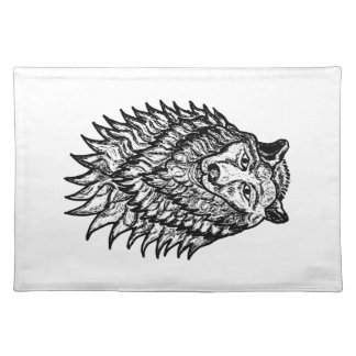 Wolf Sketch Cloth Placemat