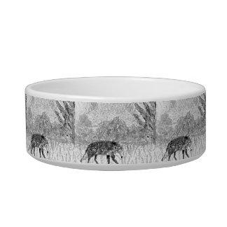 Wolf Sketch Wild Animal Art Bowl