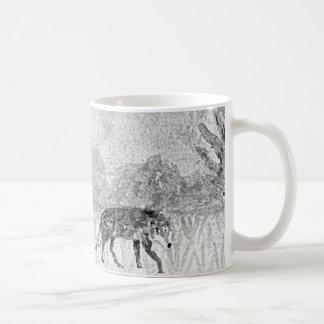 Wolf Sketch Wild Animal Art Coffee Mug