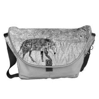 Wolf Sketch Wild Animal Art Courier Bag