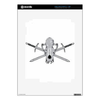 Wolf skull and Swords Decal For iPad 2