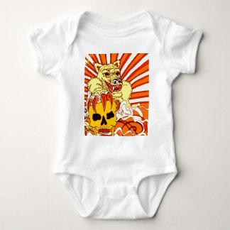 Wolf Skull Fire Baby Bodysuit