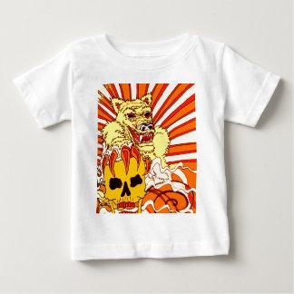 Wolf Skull Fire Baby T-Shirt
