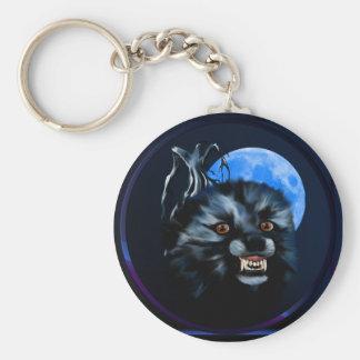 Wolf Snarl-Circle Keychain