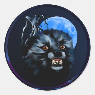 Wolf Snarl-Circle Sticker
