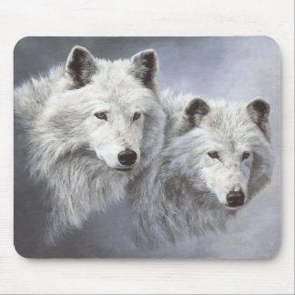 Wolf Snow Buddies Mousepad