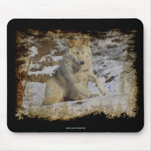 Wolf & Snow Wolf-Lover Wild Animal Alpha Male Mousepad