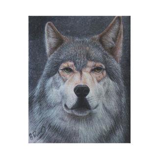 'Wolf solitario Lienzo Envuelto Para Galerías