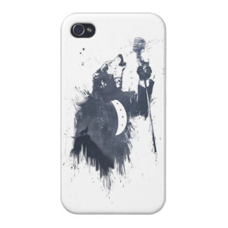 wolf song (blue) iPhone 4 case