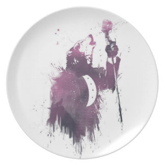 wolf song dinner plates
