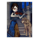 """""""Wolf Song"""" Greeting Card"""