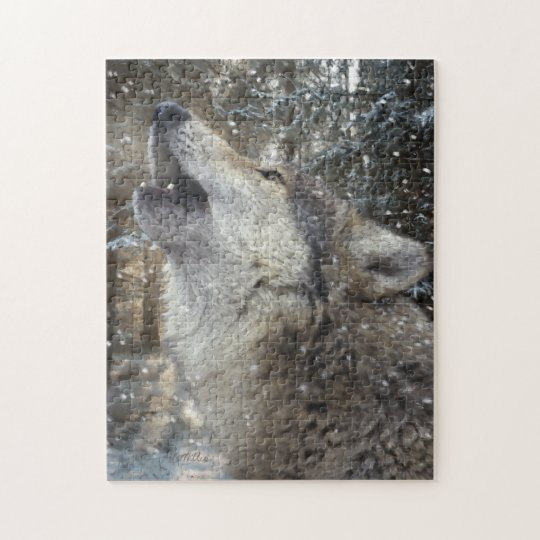 Wolf Song - Pastel Jigsaw Puzzle