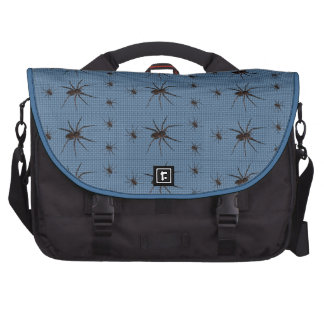 Wolf Spiders on Blue Bags For Laptop