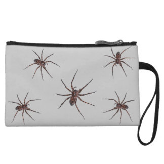 Wolf Spiders on gray Wristlet