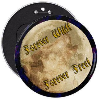 wolf spirit 6 inch round button