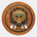 Wolf Spirit Classic Round Sticker