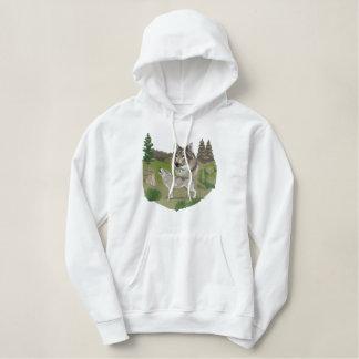Wolf Spirit Embroidered Hoodie