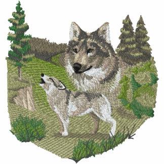 Wolf Spirit Embroidered Hooded Sweatshirt