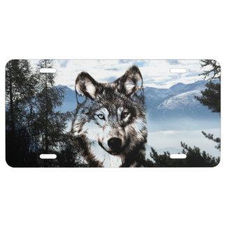 Wolf spirit license plate