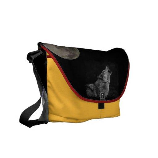 wolf spirit mama messenger bag