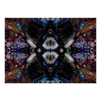 """Wolf Spirit Mandala 1"" Abstract Meditation Art Posters"