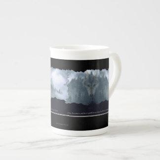 Wolf Spirit & Mountain Bone China Coffee Mug Tea Cup