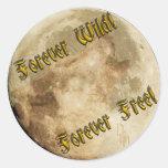 wolf spirit round sticker