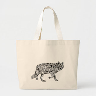 """Wolf Spirit"" - Surreal Totem Animal Canvas Bag"