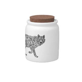 """""""Wolf Spirit"""" - Surreal Totem Animal Candy Jar"""