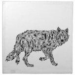 """Wolf Spirit"" - Surreal Totem Animal Cloth Napkins"
