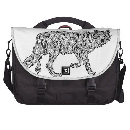 """""""Wolf Spirit"""" - Surreal Totem Animal Laptop Commuter Bag"""