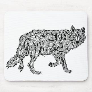 """Wolf Spirit"" - Surreal Totem Animal Mouse Pad"