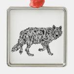 """Wolf Spirit"" - Surreal Totem Animal Christmas Tree Ornaments"