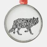 """Wolf Spirit"" - Surreal Totem Animal Christmas Ornaments"