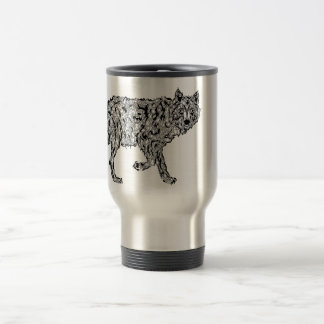 """""""Wolf Spirit"""" - Surreal Totem Animal Travel Mug"""